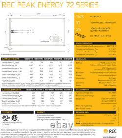 Palette Avec (25 Panneaux) De Panneaux Solaires Rec 315 Watt