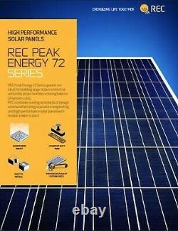Palette Avec (25 Panneaux) De Rec 265 Watt Panneaux Solaires Nous Avons Également 300 Watt Panneau