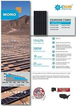 Palette D'occasion Mais Jamais Énergétique Nouveaux Panneaux Solaires Csun 380 Watt Livraison Gratuite