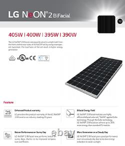 Palette De 25-lg Electronics-lg405n2t-j5 Bifacial-solar Panel-total 10125 Watt