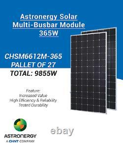 Palette De 27-astronergy- Chsm6612m-365 -panneau Solaire-total 9855watt