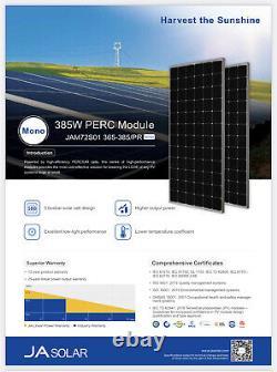 Palette De Nouveaux Panneaux Solaires Ja Solar 385 Watt Mono Avec Livraison Gratuite
