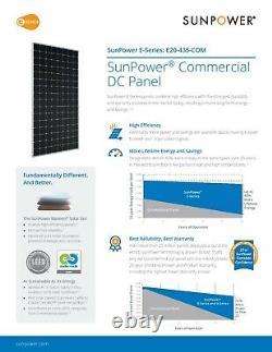 Palette Utilisé American Made Sunpower 435 Watt Mono Panneaux Solaires. Livraison Gratuite
