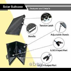 Panel Solaire Pliable Monocristallin 200 Watt Expertbatterie, Panneau De Valise