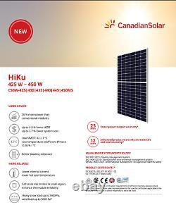 Panier Solaire Canadien-cs3w-440ms-pallet De 27 -total 11880watts