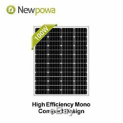 Panneau Solaire 100w 100 Watt Module Monocristallins 12v Newpowa Camping Rv Marine