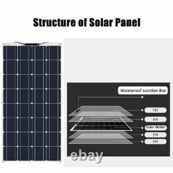 Panneau Solaire Avec Contrôleur 320 Watt Kit Générateur De Centrale Électrique Flexible Accueil