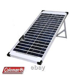 Panneau Solaire Coleman 80 Watt 2 X 40w 12 V Avec Support 40 Watt 12 Volt Cristalline
