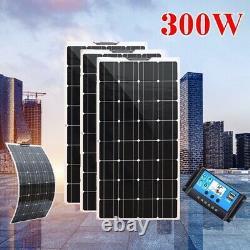 Panneau Solaire De 300w Watt Pour Kit De Charge De Batterie Marine Rv Chargeur De Caravane Marine