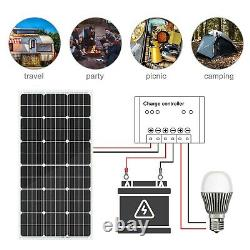 Panneau Solaire Eco-worthy 100w 195w Watt Produit Marin Monocristallin 12v Rv