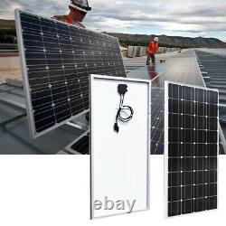 Panneau Solaire En Verre Trempé 100 Watt Système Monocristallin 20a 18v Pour Bateau Rv