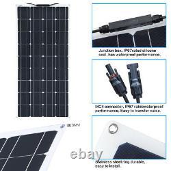 Panneau Solaire Flexible 100w Watt 18v Pour Bateau, Voiture, Caravane, Chargeur De Batterie 12v
