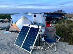Panneau Solaire Flexible Sunpower 100 Watt. Haut Rendement Pour Marine, Rv, Camping