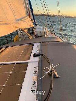 Panneau Solaire Flexible Sunpower 100 Watt. Haute Efficacité Pour Marine, Rv, Camping