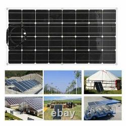 Panneau Solaire LCD 200 Watts 2pcs 100w Monocrystalline 12/24 Volt Rv Boat Off Grid
