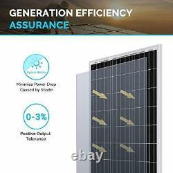 Panneau Solaire Monocristallin 100watt 12volt 42,4x20.0x1,38 En Haute Efficacité