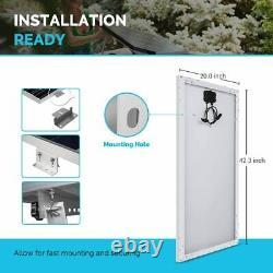 Panneau Solaire Monocristallin Renogy 100 Watt 12 Volt, Conception Compacte 42,4 X 20,0