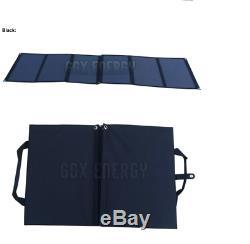Panneau Solaire Pliable 120w Watt 20v Volt Portable Camping Randonnée Chargeur De Batterie