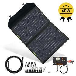 Panneau Solaire Pliable Watt 12v De 60w Pour La Centrale Électrique, Charge De Batterie, Téléphone Portable