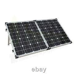 Panneau Solaire Pliant 100 Watts 18v+ Contrôleur De Charge 10a 12v Charge De Batterie Rv