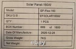 Panneau Solaire Pliant Ecoflow 160-watt Pour Les Centrales Électriques Ecoflow