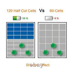 Panneau Solaire Pv 330watt Demi-coup 120 Cellules Monocristallin Tout Cadre Noir