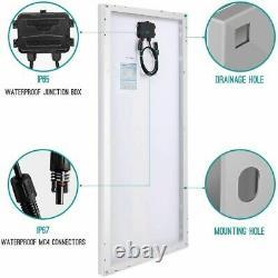 Panneau Solaire Renogy 2pcs 100 Watt 12 Volt Monocristallin, 2-pack Design Compact
