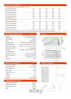 Panneaux Solaires Telesun De 400 Watt -tp6f72mh-400-black-pallet De 31/12.4kw-mono