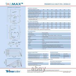 Panneaux Solaires Trina De 400 Watts -modèle Tsm-400de15h(ii)- Palette De 25- Puissance 10 Kw