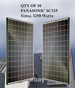 Qty De 10 Panneaux Solaires Panasonic 325w- Sc325 Total 3250 Watts