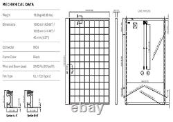 Qty De 5 Panneaux Solaires Panasonic 325w- Sc325 Total 1625 Watts