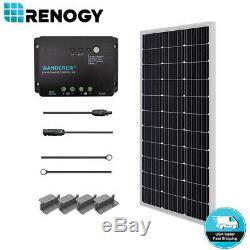 Renogy 100 Watts 12v Monocristallin Solaire Starter Kit 30a Pwm Contrôleur De Charge