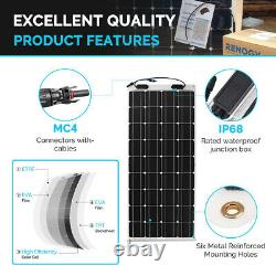 Renogy 100w Watt 12 Volt Flexible Mono Solar Panel Bateau Rv Camping