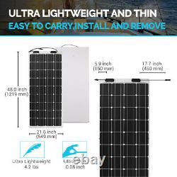 Renogy 100w Watt 12v Volt Flexible Mono Solar Panel Rv Rooftop Camping Off-grid