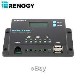 Renogy 100w Watt Bundle Mono Panneau Solaire Kit 10a Pwm LCD Contrôleur De Charge