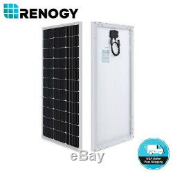 Renogy 100w Watt Bundle Mono Panneau Solaire Kit Avec 30a Pwm Contrôleur De Charge Solaire