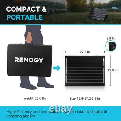 Renogy 100watt 12volt Mono Pliable Solaire Valise Avec 20a Voyager Pour Le Camping Rv