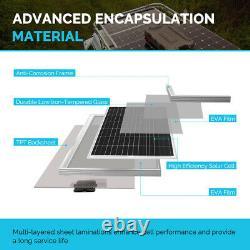 Renogy 100watt 12volt Mono Solar Bundle Kit Avec 10a Pwm Chargeur Contrôleur Rv Bateau