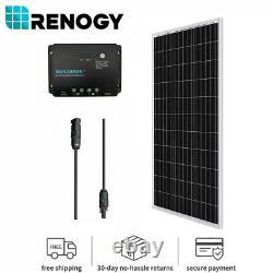 Renogy 100watt 12volt Monocrystallin Solar Bundle Kit Avec Contrôleur De Chargeur 30a