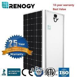 Renogy 12v 200w Watt Volt Panneau Solaire Pv Monocristallins Énergie À Haut Rendement