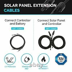 Renogy 200 Watts 12 Volts Monocrystallin Solar Rv Kit Off-grid Avec Adventu