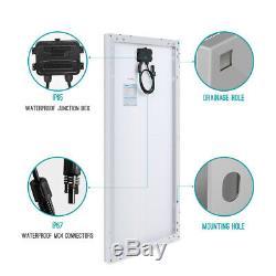 Renogy 200w Watt Mono Panneau Solaire Bundle Kit With30a Pwm Contrôleur De Charge De Batterie