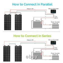 Renogy 200w Watt Solar Flexible Kit 20a 12v / 24v Contrôleur De Charge Étanche