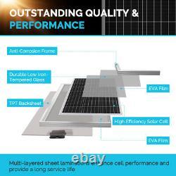 Renogy 200watt 12volt Mono Solar Panel Premium Kit Avec Contrôleur De Charge Mppt 20a