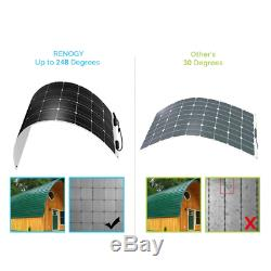 Renogy 248 ° Flexible 100w Watt 12 Volt Flexible Mono Panneau Solaire 100w Rv Camping
