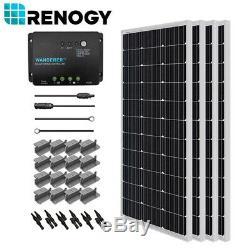 Renogy 400w Watt Panneau Solaire Kit De Démarrage Mppt Contrôleur Système Hors Réseau
