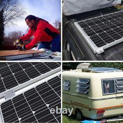 Renogy 50w Watt 12v Mono Solar Panel Kit Avec 10a 12/24v Pwm Contrôleur De Charge LCD