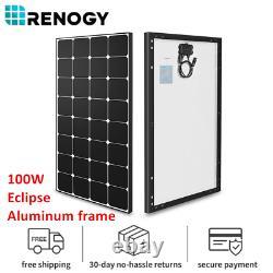 Renogy Eclipse 100watts 12volts Panneau Solaire Monocristallin Cadre En Aluminium Noir