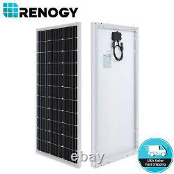 Renogy Watts 100w 12v Mono Panneau Solaire À Haute Efficacité Module Rv Bateau Camping