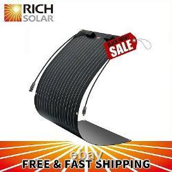 Rich Solar 100w 12v Extrêmement Efte Flexible Monocrystalline Solar Panel Noir